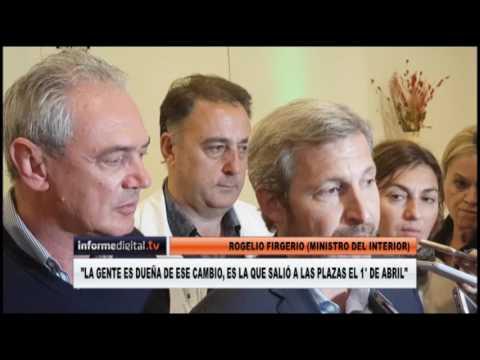 <b>PASO.</b> Rogelio Frigerio cerró la campaña de Benedetti