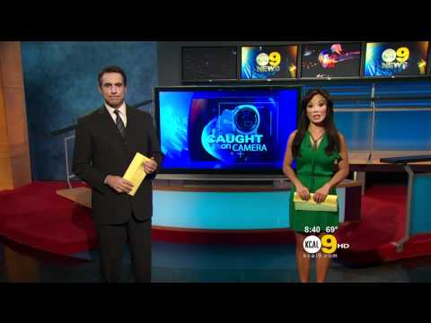 Sharon Tay 2012/01/25 8PM KCAL9 HD; Little green dress