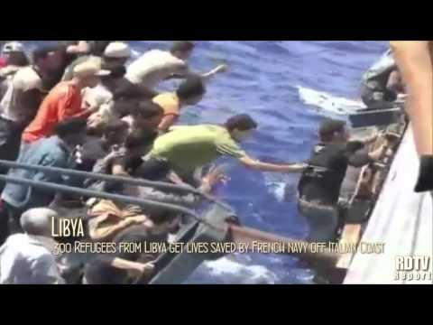 LIBYA: 300 Libyan Refugees saved by French Navy