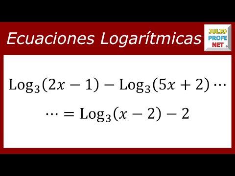 Ecuación que contiene logaritmos