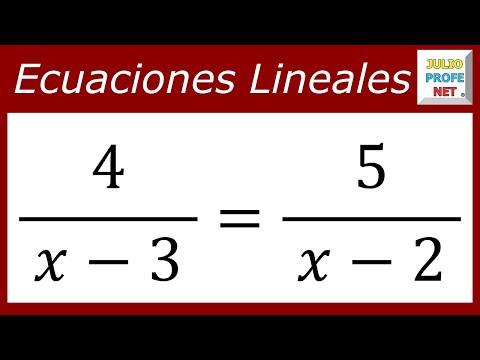 Ecuación con la incógnita en los denominadores