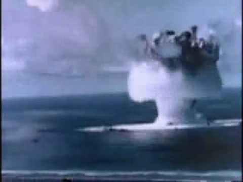 Atomic bomb test under water