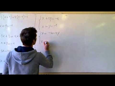 Risoluzione Sistemi di I grado, Metodo del Confronto