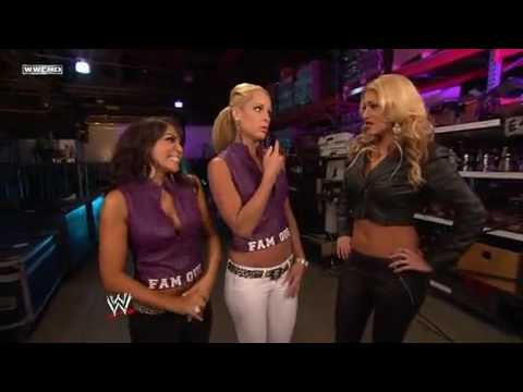 Lay-Cool,Kaval & Rosa Mendes Backstage Segment  WWE SmackDown 6/18/10