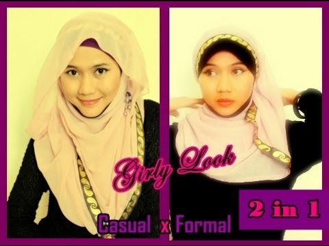 Double Paris Hijab Tutorial | Formal & Informal by Didowardah - Part 16#