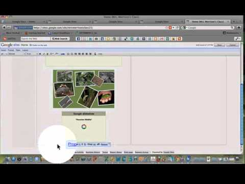 Google Sites Tutorial Part I