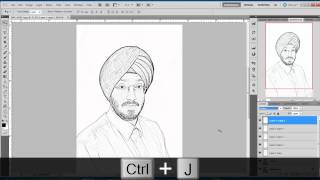 Photoshop Hindi tutorial, Episode# 5 Photo to Sketch
