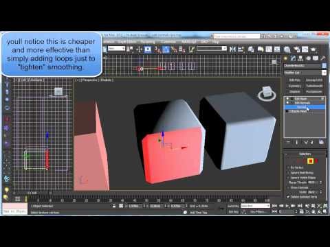 3ds Max Tutorial: 3ds max tricks - Edit Normals to control smoothing and lighting