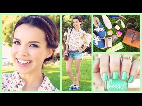 Get Ready With Me! ❀ Spring Makeup, Hair, and Outfit!