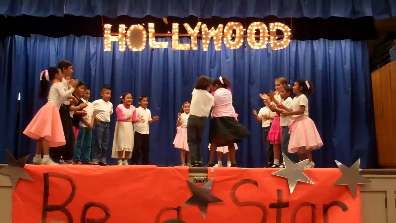 San Juan Elementary 3rd graders swing dance to La Plaga (Good Golly Miss Molly).mp4