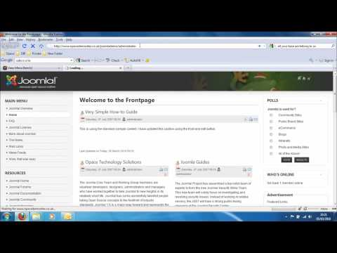Opace Joomla Video Tutorials 7: How to Reorder Menu Guide