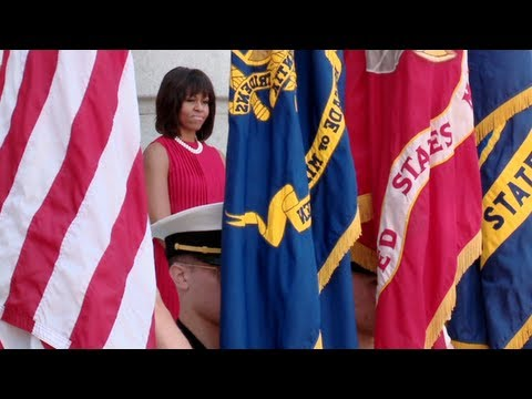 First Lady Michelle Obama at the Naval Academy 4/30/13