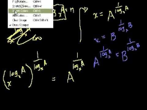 Dimostrazione: log_a (B) = (log_x (B))/(log_x (A))