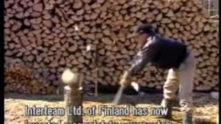 nordic splitting, new way to split wood