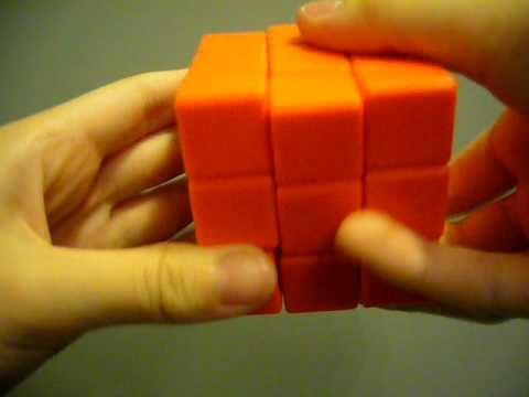 [rubik's cube] orange rubik's cube without stickers