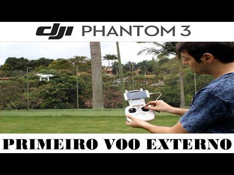 DJI Phantom 3 Primeiro Voo Externo