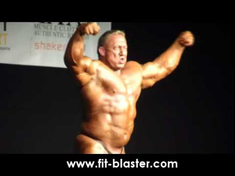 Markus Ruhl posing at the Cyprus Bodybuilding & Fitness Competition 2011
