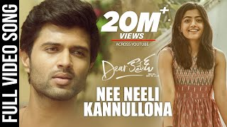 Nee Neeli Kannullona Video Song - Dear Comrade Telugu  Vijay Deverakonda  Rashmika  Bharat Kamma