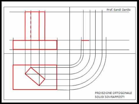 Proiezione ortogonale solidi sovrapposti