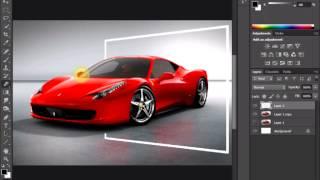photoshop out of bounds 3d Ferrari tutorial