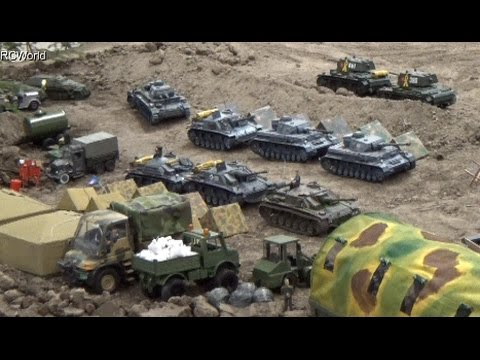RC Tanks Panzer in Action WW2 ♦ Tiger Leopard ♦ Erlebniswelt Modellbau Erfurt 2015 Modellbaumesse - default
