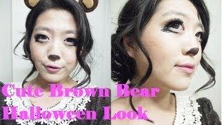 The Beauty Owl: Cute Brown Bear Halloween Makeup - YouTube