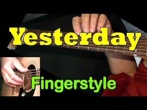 Yesterday, Beatles - fingerstyle guitar lesson WITH TAB! learn to play acoustic arrangement