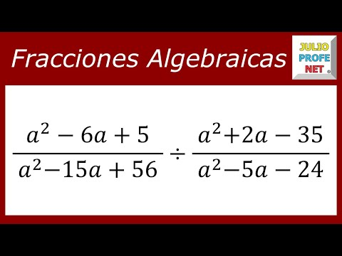 División de fracciones algebraicas