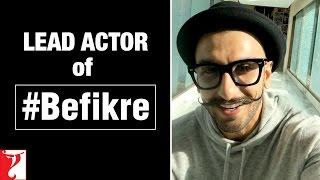 Ranveer Singh as the LEAD ACTOR of Aditya Chopra's #Befikre