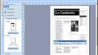 Hacer un Diario con Publisher 2007.