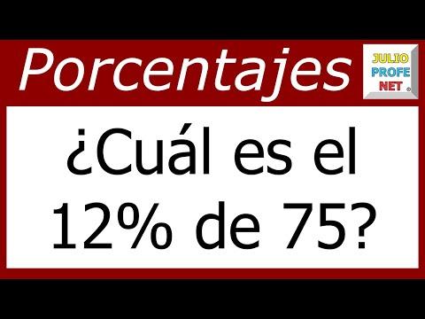 Ejercicio 1 de Porcentajes