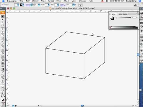 Technical Drawing in Adobe Illustrator Part 1
