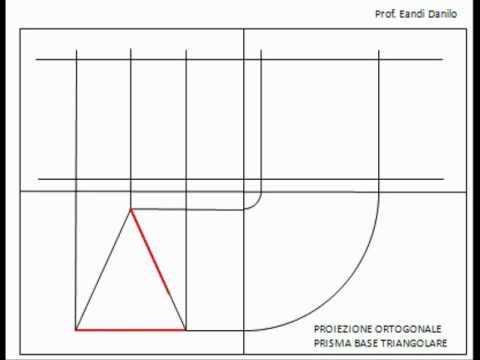 Proiezione ortogonale prisma base triangolare