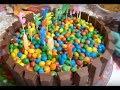 Куриные леденцы/ТОРТ из M&M's и KitKat/День рождения Сонечки