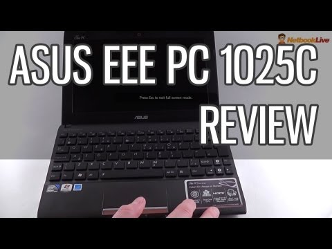 Asus EEE PC 1025C review - solid mainstream 10 inch netbook