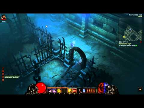 [Diablo 3 Walkthrough] Demon Hunter - Act 1 - Part 22 - Cursed Hold (incl. Warden Boss)