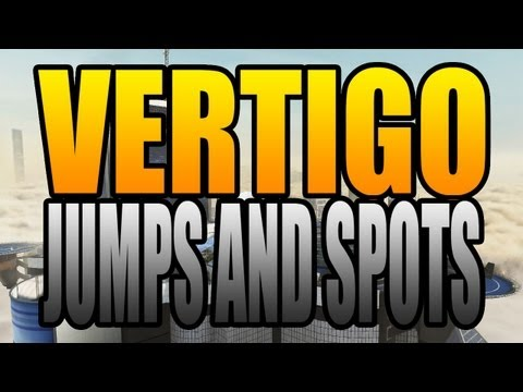 BO2 Jumps and Spots - Vertigo (Black Ops 2 Uprising DLC Map Pack Gameplay)