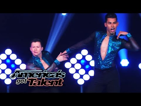 John & Andrew: Male Dance Duo Pull Off Fierce Salsa Moves - America's Got Talent 2014