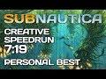 Subnautica - Creative Any% Speedrun - 7:19