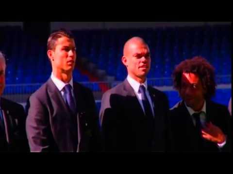 فبدبو : مارسيلو ينفجر من الضحك اثناء حفل توقيع ريال مدريد العقد مع شركة ايبيك