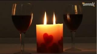 Velas con corazones para enamorados