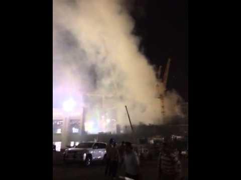 شاهد بالفيديو ..حريق هائل في المسجد الحرام بمكه المكرمه ج2