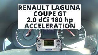 Renault Laguna Coupe GT 2.0 dCi 180 KM - przyspieszenie 0-100 km/h