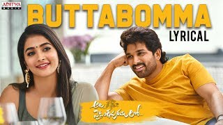 ButtaBomma Lyrical -Ala Vaikunthapurramuloo