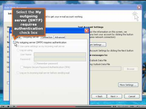 Microsoft Outlook 2010 POP3 Email Setup Tutorial