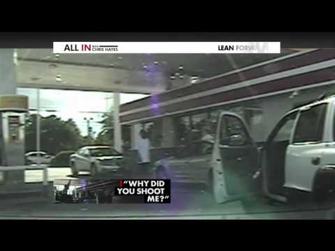 Levar Jones Handcuffed for Hours After Being Shot by Officer Extended Clip 10/2/14   (Racial Profile)