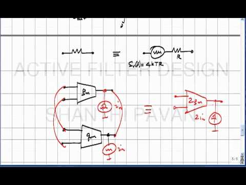 AFD19 - Introduction to noise in electrical networks (contd), the idea of node scaling