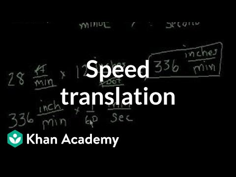 Speed translation