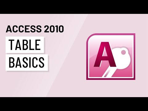 Access 2010: Table Basics