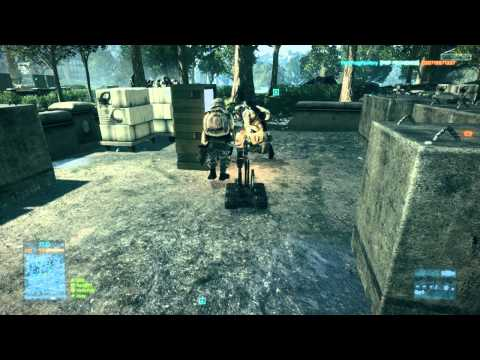 BF3: EOD bot in action (C4-s, Roadkill, soldier frying and mcom arming)